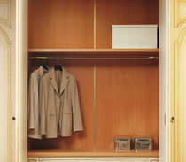 Traditional wardrobe / wooden / lacquered wood / with swing doors