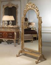 Free-standing mirror / classic / wooden