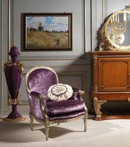 Louis XVI style armchair / velvet / bergere