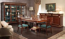 Classic dining table / brass / rectangular