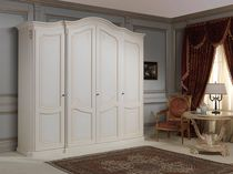 Traditional wardrobe / wooden / with swing doors