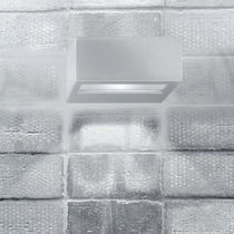 Contemporary wall light / outdoor / frosted glass / aluminum