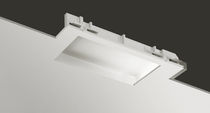 Recessed ceiling light fixture / LED / compact fluorescent / rectangular
