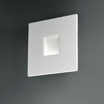 Contemporary wall light / square / metal