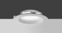 Recessed ceiling light fixture / LED / fluorescent / round