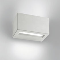 Contemporary wall light / outdoor / frosted glass / cast aluminum