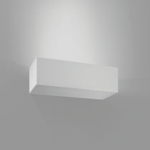 Contemporary wall light / rectangular / composite material / LED