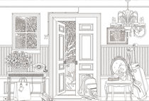 Traditional wallpaper / patterned / sketch / non-woven