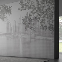 Contemporary wallpaper / vinyl / nature pattern / urban motif