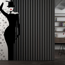 Contemporary wallpaper / vinyl / striped