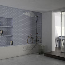 Contemporary wallpaper / vinyl / patterned / urban motif