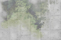 Contemporary wallpaper / vinyl / nature pattern / concrete look