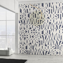 Contemporary wallpaper / vinyl / geometric / text