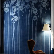 Contemporary wallpaper / vinyl / floral pattern / washable
