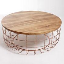 Original design coffee table / walnut / white oak / steel