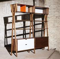Modular shelf / original design / oak / walnut