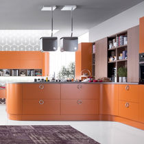 Contemporary kitchen / laminate / L-shaped / lacquered