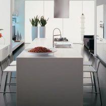 Contemporary kitchen / laminate / island / lacquered