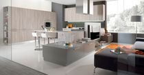 Contemporary kitchen / laminate / wooden / L-shaped