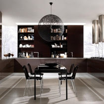 Contemporary kitchen / wooden / U-shaped / lacquered