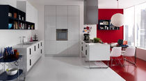 Contemporary kitchen / acrylic / island / lacquered