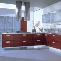 Contemporary kitchen / wooden / island