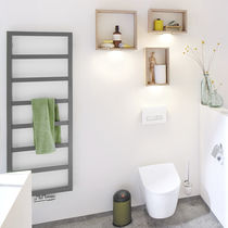 Hot water towel radiator / electric / steel / minimalist design