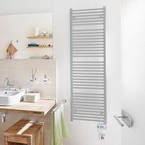 Electric towel radiator / steel / traditional / bathroom