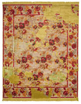 Contemporary rug / floral pattern / wool / rectangular
