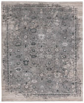 Contemporary rug / floral pattern / wool / silk