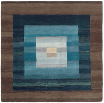 Contemporary rug / patterned / wool / rectangular