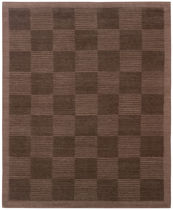 Contemporary rug / plaid / wool / rectangular