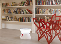 Contemporary side table / polyethylene / round / LED-illuminated