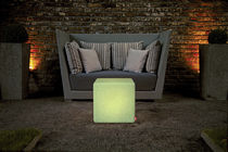 Side table / contemporary / composite / cube-shaped