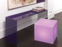 Side table / contemporary / plastic / cube-shaped