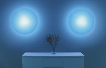 Contemporary wall light / plastic / LED / round