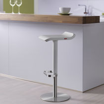 Bar stool / contemporary / lacquered wood / stainless steel