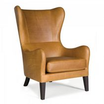 Contemporary armchair / wing / fabric