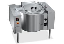 Electric boiling pan / tilting / floor-mounted / commercial