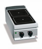 Electric range cooker / vitroceramic / commercial