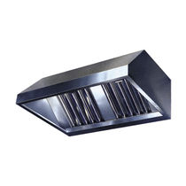Wall-mounted extractor hood / with built-in lighting