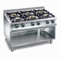Gas cooktop / commercial / self-supporting