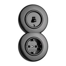 Power socket / multi / recessed / Bakelite®