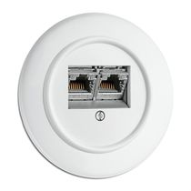 Data socket / double / recessed / Duroplast