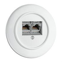 Data socket / double / recessed / Duroplast