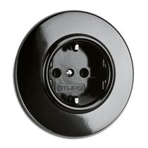Power socket / wall-mounted / Bakelite® / traditional