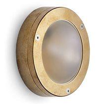 Traditional wall light / outdoor / brass / halogen