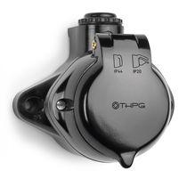 Power socket / surface-mounted / Bakelite® / traditional