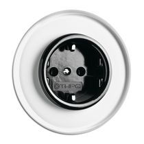 Power socket / wall-mounted / Bakelite® / traditional