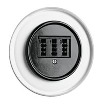Data socket / telephone / wall-mounted / Bakelite®